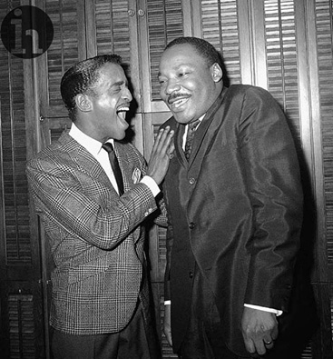 imágenes históricas Sammy Davis JR y Martin Luther King JR