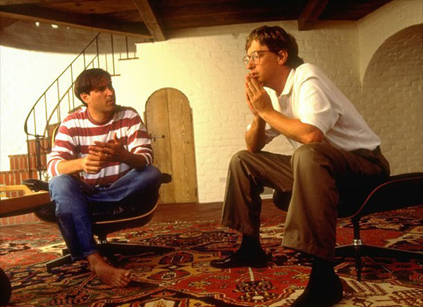 Bill Gates y Steve Jobs.